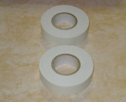 3 -  D Klebeband ( Foam tape ), 1,2 mm / 18 mm ( 2 x 2 Meter)